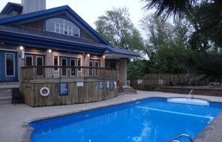 A heated outdoor  pool awaits, May long weekend through to Labour day only