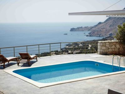 Photo for Unobstructed sea views, pool, romantic atmosphere , near  beach and  amenities