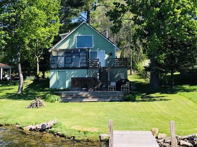 Photo for Clam/Torch Lakefront.  Private Dock/Huge Deck/Gas Grill/FirePit. Open Floorplan.