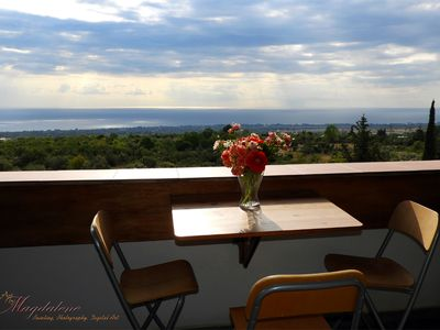 Photo for PanoramaLoft - apartment with panoramic sea view, Olympus Mt.