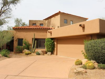 Photo for NEW LISTING! - Lush and secluded getaway in the Boulders Resort!