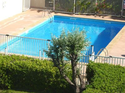 Photo for T 2 Sea view, Pool, Wifi, Direct access to the beach