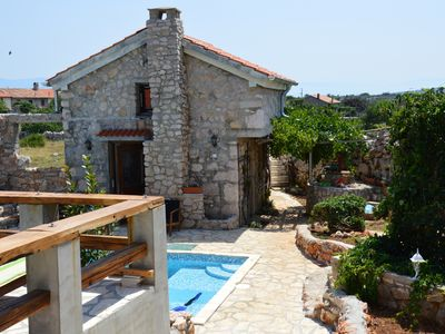 Photo for 4BR Absolutely unique, rustic stone houses with pool,  5 min. walk  to the beach