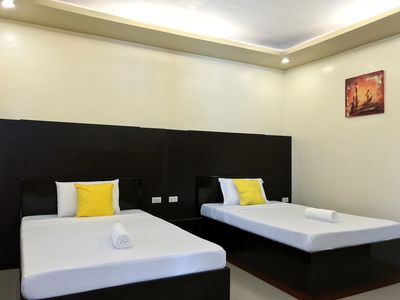 Photo for Just few minutes walk from Alona Beach! Good for 4