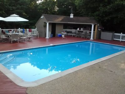 Photo for RESORT LIKE HOME SLEEPS 18, WITH POOL AND HOT TUB NEAR CRAIGEVILLE BEACH WALK TO
