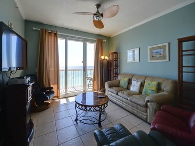 Photo for Amazing View, Beach-front condo, On-site pool and Hot tub, On the beach