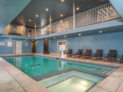 Photo for Indoor Pool House! Hot Tub * Large Theater * Sauna * Pets Ok * Game Room