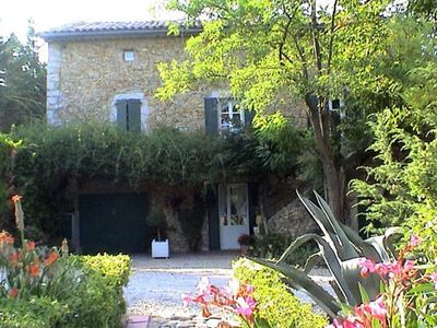 Photo for Character Cevennes farmhouse with private pool, quality service.