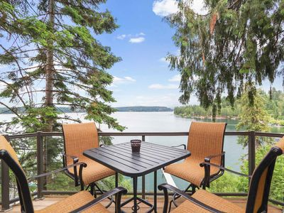 Photo for NEW LISTING! Lakeside home w/ private hot tub, sauna, game room & home theater!