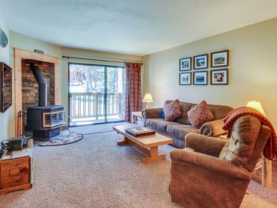 Photo for Cozy retreat w/ small patio, shared pool, hot tubs - near skiing, golf, and more
