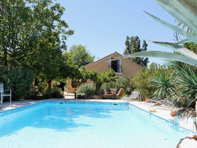 Photo for Comfortable holiday home with private pool 35 km away in the hinterland of Hyères