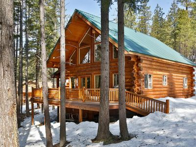 Photo for Riverfront Retreat - Private Leavenworth Log Cabin
