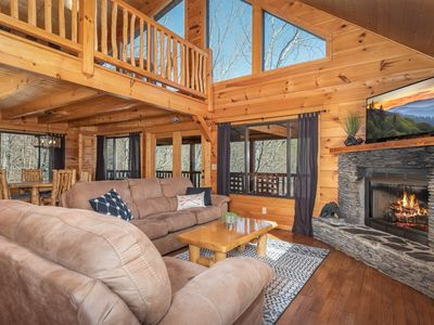 Photo for Smoky Mountains Bliss! 3BR w/ Hot Tub, Balcony, & Multi-Level Deck