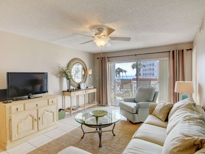 Photo for Lovely 2nd Floor Condo w/ Ocean and Pool Views, Balcony, Free WiFI & More