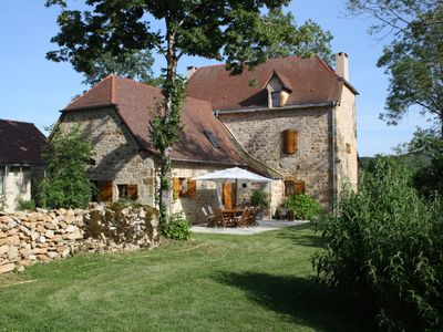 Photo for Maison Quercy authentic charm, great comfort, swimming pool natural garden