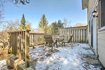 Breathe in that fresh Ontario air from the back deck!