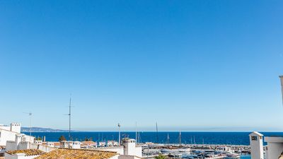 Spectacular sea views in Puerto Banus from the duplex 2 bedroom 2 bathroom