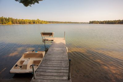 Private dock and paddle boat. Need a boat? We can recommend a rental.