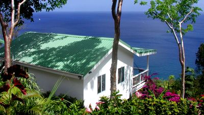 Photo for AMAZING SEA VIEWS, Private Cottage, 30ft Pool, WiFi