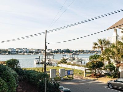 Photo for Charming condo in central Wrightsville with water views of Banks Channel