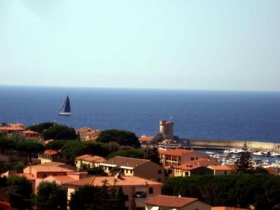 Photo for Beautiful apartment with a view at Marciana Marina on Elba Island
