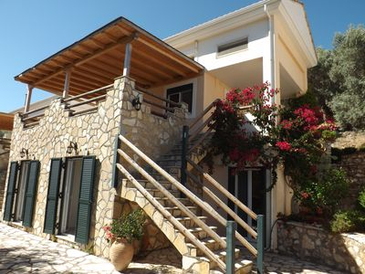 Photo for Villa Giancarlo - Lovely Villa with Stone and Wood Elements in Sivota Bay