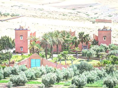Photo for EXCLUSIVE, Authentic Berber Kasbah, view on the Atlas, hammam, swimming pool ....