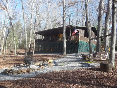 Photo for Shady Acre Retreat-Hot Tub-Firepit-Fireplace-Close to town-Paved access, Wi-Fi