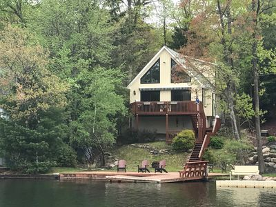 Photo for Lakefront w/Private Dock on Lake Harmony!  Close to everything!  Fall Foliage!