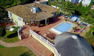 Photo for 5 bedroom Villa, sleeps 15 with Pool, Air Con, FREE WiFi and Walk to Shops