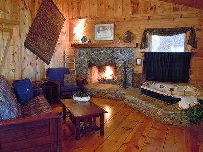 Photo for Welcome to The Pines! Log Cabin on the Ocoee River, Fireplace, Kitchen, Jacuzzi