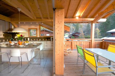 Rent Chalet Chamonix   Terrace with view
