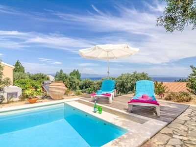 Photo for 1 Bedroom Cottage in Loggos Village With a Pool and Sea Views