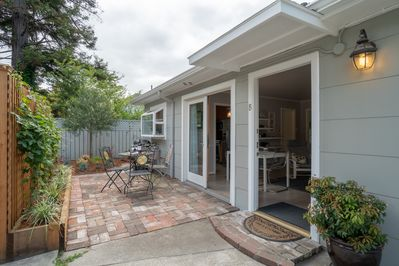 Cottage with patio and French doors