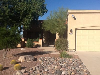 A front view of my wonderful home in Oro Valley, AZ.