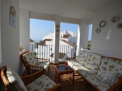 Photo for R19 Apartment with pool views above La Duquesa Golf Course!