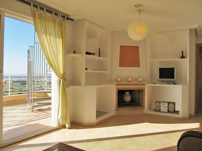 Photo for Beautiful 2 bedroom penthouse with stunning views in Cala Flores