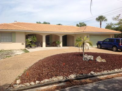 Photo for Luxury Kid Friendly 5BR/3BA With Heated Pool.  Walk Or Bike To Beach