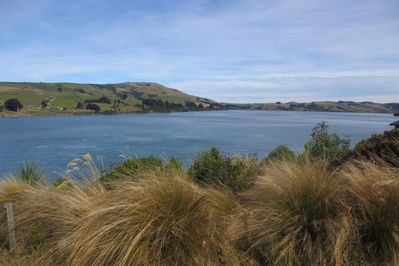 Catlins Lake from lawn