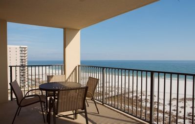 Large Balcony with expansive beach view-step out from Master BR or Living Room