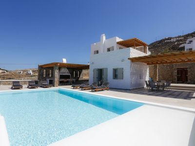 Photo for Minimal White Villa with private pool and sea view