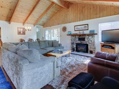 Photo for Cozy home offers quiet woodland surroundings w/ easy access to skiing & lake!
