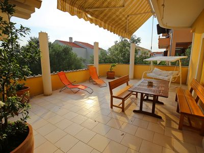 Photo for Family Apartment with Huge Terrace & Sea view
