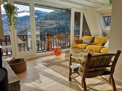 Photo for CONTEMPORARY DUPLEX WITH MOUNTAIN VIEW