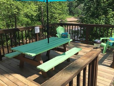 Photo for RIVERFRONT ! A Room with a View !!  Hot Tub ! Nat'l Forest.  Restaurants closeby