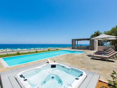 Photo for Premium Villa with Panoramic Sea Views, walking distance to beach & Rethymno!