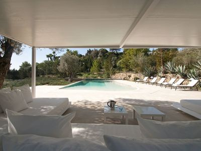 Photo for Modern Villa with sea view overlooking the famous Ibiza