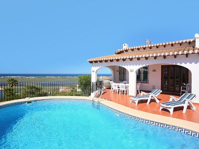 Photo for This 4-bedroom villa for up to 8 guests is located in Pego and has a private swimming pool, air-cond