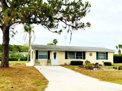 Photo for Waterfront with dock, 2 bed 2 bath, Gulf access, beaches nice quite neighborhood