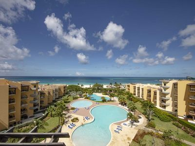 Photo for BEACHFRONT - EAGLE BEACH - OCEANIA RESORT - Best View Penthouse 4BR condo
